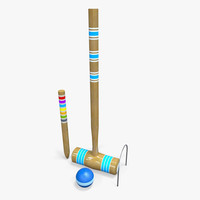 3ds max croquet set