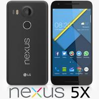 3d lg nexus 5x model