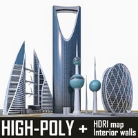 high-rise buildings aldar 3d max