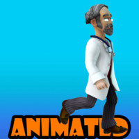 3d doctor animation model