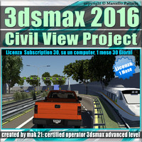 3ds max 2016 Master in Civil View 1 Mese Desktop Subscription