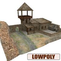 medieval house c4d