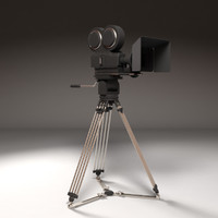 3d professional camera simplified model