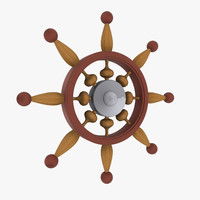 maya wooden ship helm