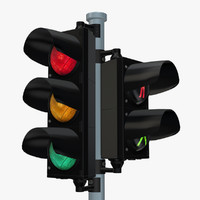 3d max traffic light