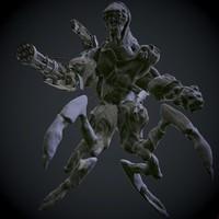 zbrush soul eater demon 3d model