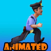 3d policeman animation model
