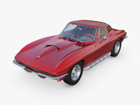 3d chevrolet corvette c2 stingray