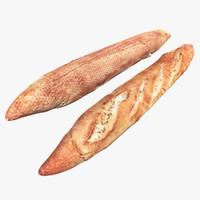 3d baguette scan
