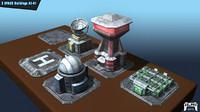 3d model a1 buildings