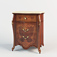 bedside table signorini 3d model