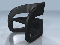 3ds max contemporary club chair