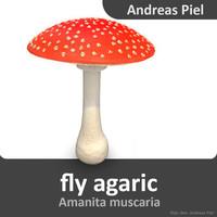 fly agaric obj