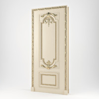 realistic classic door 3d model