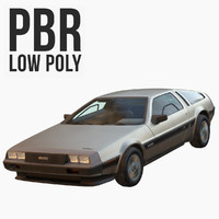 3d model dmc delorean polys