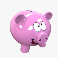 3d money piggy bank