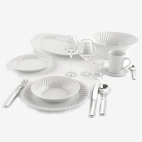 dinnerware set 3d obj