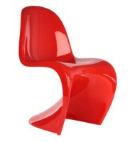 3d model red panton chair