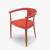 red chair 3d model