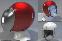 3ds max retro motorcycle helmet