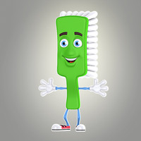 3d model cool cartoon toothbrush
