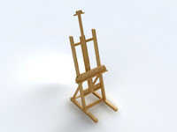 3d model painter easel