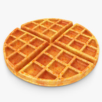realistic waffle 3d max