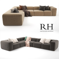 rh fulham upholstered customizable 3d max