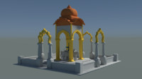 temple hindu shiva 3d model