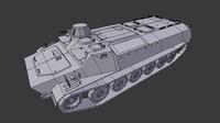 soviet mtlb 3d model