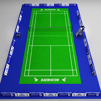 badminton court arena 3d model