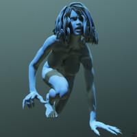 3d model posed vampire