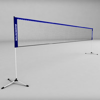Badminton net low poly