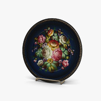 plates flowers 3ds