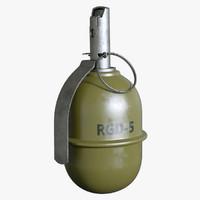 3dsmax grenade rgd-5 5