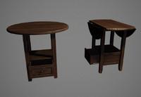 3d model pub table