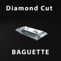 baguette diamond cut 3d model