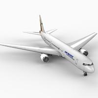 3d model 767 air