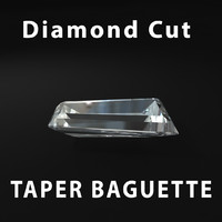 3d taper baguette diamond cut