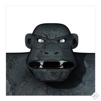 3d igoo rock ape model