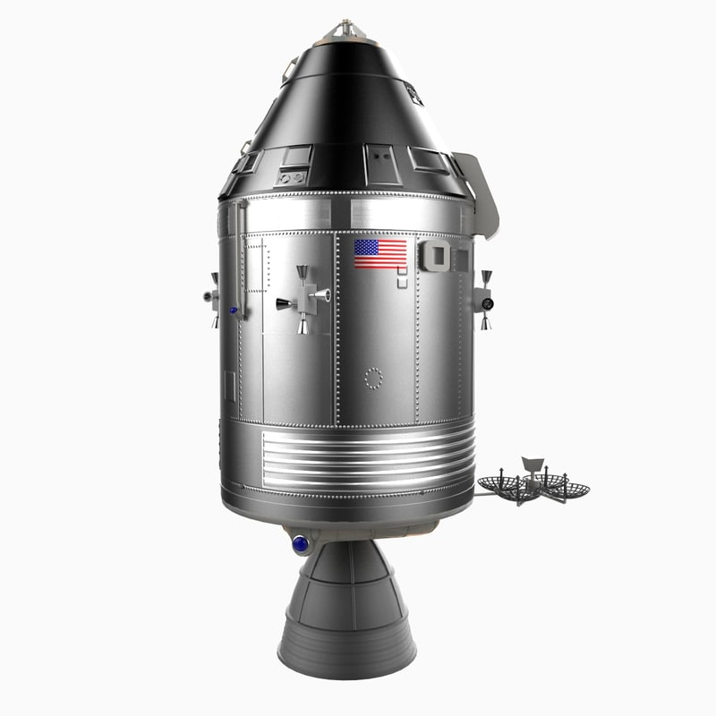 3d model apollo 13 service lunar
