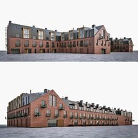3d loft house industrial building