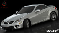 3d model of mercedes-benz slk 55 amg