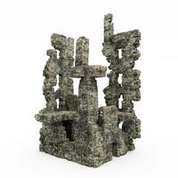 stone cliff 3d max