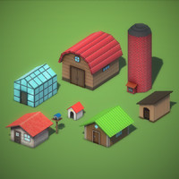 Lowpoly Farming Game Pack - Ranch Buildings