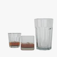 alcohol shots 3d model