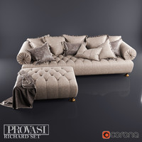 3ds max richard sofa pouf provasi