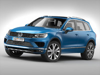 3d model of volkswagen touareg 2015