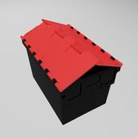 3d plastic storage box