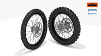 3d model ktm oem motocross wheel